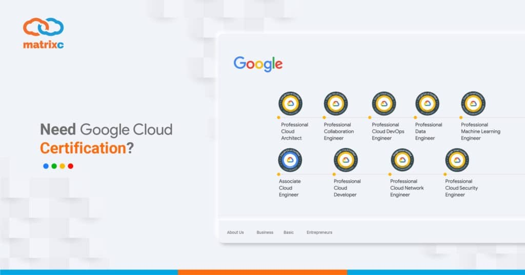 Need Google Cloud Certificate