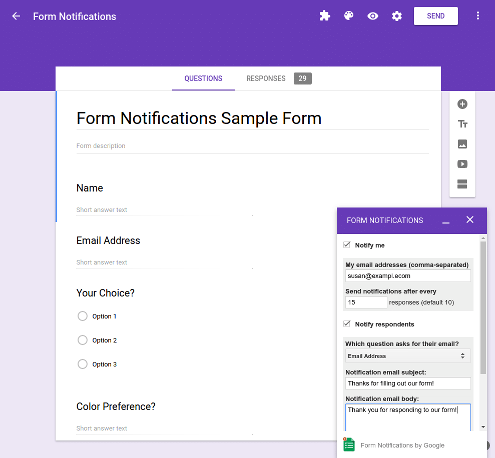 go green with google forms